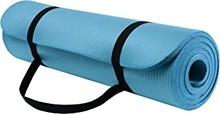 Exercise Mat for Home Workout   Extra Thick Yoga Mat 10mm Thick Exercise Mat   Fitness Mat Anti Slip Yoga Mat with Carryin...