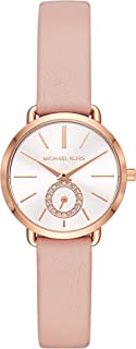 Michael Kors Women's Analogue Quartz Watch With Leather Strap Mk2735, Pink Band