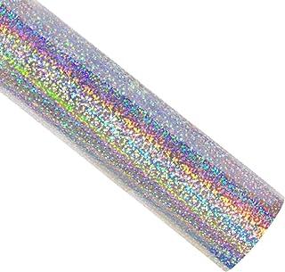 comprar comparacion Rollo de vinilo holográfico para transferencia de calor, 30,5 x 152 cm, color plateado, arcoíris, para bricolaje, camiseta...