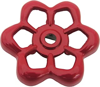 LASCO 01-5131 Square Broach Metal Outside Faucet Hose Bibb Replacement Round Wheel Handle, 1-7/8