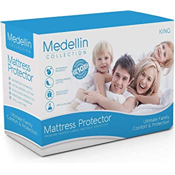 Vinyl Free SYNCHKG054215 SafeRest King Size Classic Plus Hypoallergenic 100/% Waterproof Mattress Protector