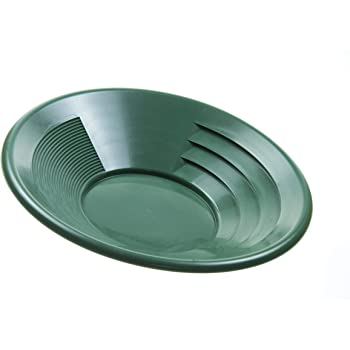 "SE 14"" Green Plastic Gold Pan with Two Types of Riffles - GP1014G14"