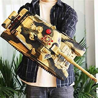 WEIWEI Realistic Toys 2.4GHz RC Tank, High Speed Crawler Tank 4WD off-Road Remote Control Army Truck Truggy Simulation Arm...