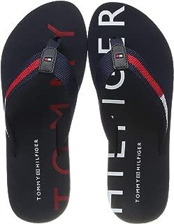 Tommy Hilfiger Kadın Flat Beach Sandal Hilfiger Print Moda Ayakkabı FW0FW03887