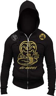 Cobra Kai No Mercy Adult Full Zip-Up Hoodie Sweatshirt Jumper Jacket Halloween Costume