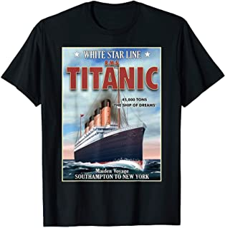 A 1912 Vintage Titanic Voyage Ship Cruise Vessel T-shirt T-Shirt