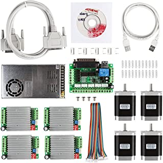 SainSmart CNC de 4Axis Kit with tb6600Motor Driver, paralle Interface Break Out Board, NEMA23270oz de en Stepper Motor and 24V Power Supply (CNC Kit 3)