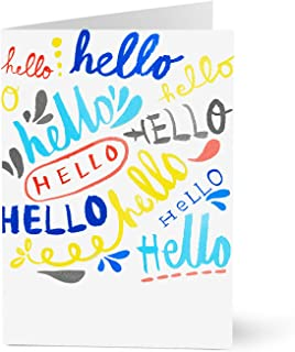 Hallmark Welcome Cards for New Employees (Lettered Hellos) (Pack of 25 Greeting Cards)