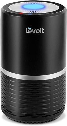 Levoit 空気清浄機 小型 脱臭 静音 タバコ 花粉?PM2.5対策 省エネ ホコリ除去 夜間ライト付き HEPAフィルター ブラック LV-H132