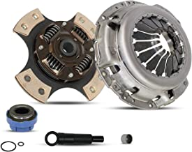 Clutch Kit Works With FORD RANGER MAZDA B2300 B2500 B3000 Base Xl Xlt Limited Cab Pickup 1995-2011 2.3L L4 GAS DOHC 3.0L V6 GAS OHV 2.5L L4 GAS SOHC Naturally Aspirated (4-Puck Clutch Disc Stage 2)