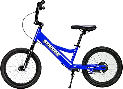 Youth 16 Sport No-Pedal Balance Bike Ages 6 to 10 Years B Details about  /Strider Blue