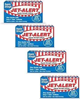 Jet-Alert 100 MG Each Caffeine Tab 120 Count (Pack of 4)