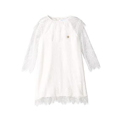 Lanvin Kids Long Sleeve Lace Dress (Toddler/Little Kids) (White) Girl