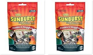 Higgins 2 Pack Sunburst Gourmet Fruit & Veggies Bird Treats For Large Birds and Parrots. 5 oz. ea. Fast Delivery