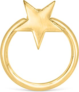 ONDAISY Jewelry 14K Gold Plated Ball Open Round Circle Hoop Ring Ear Piercing For Women Girls Men Hypoallergenic Minimalist