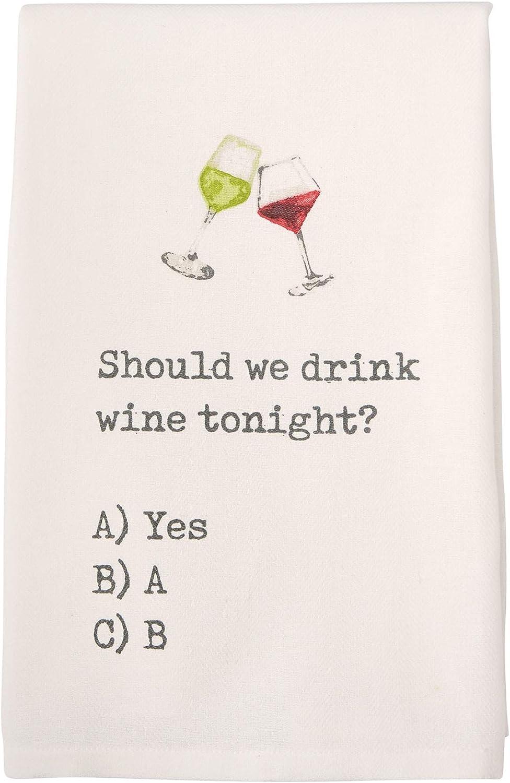 Mud Pie Hand Dish Sale Towel Tonight Drink Should we Wine Max 62% OFF