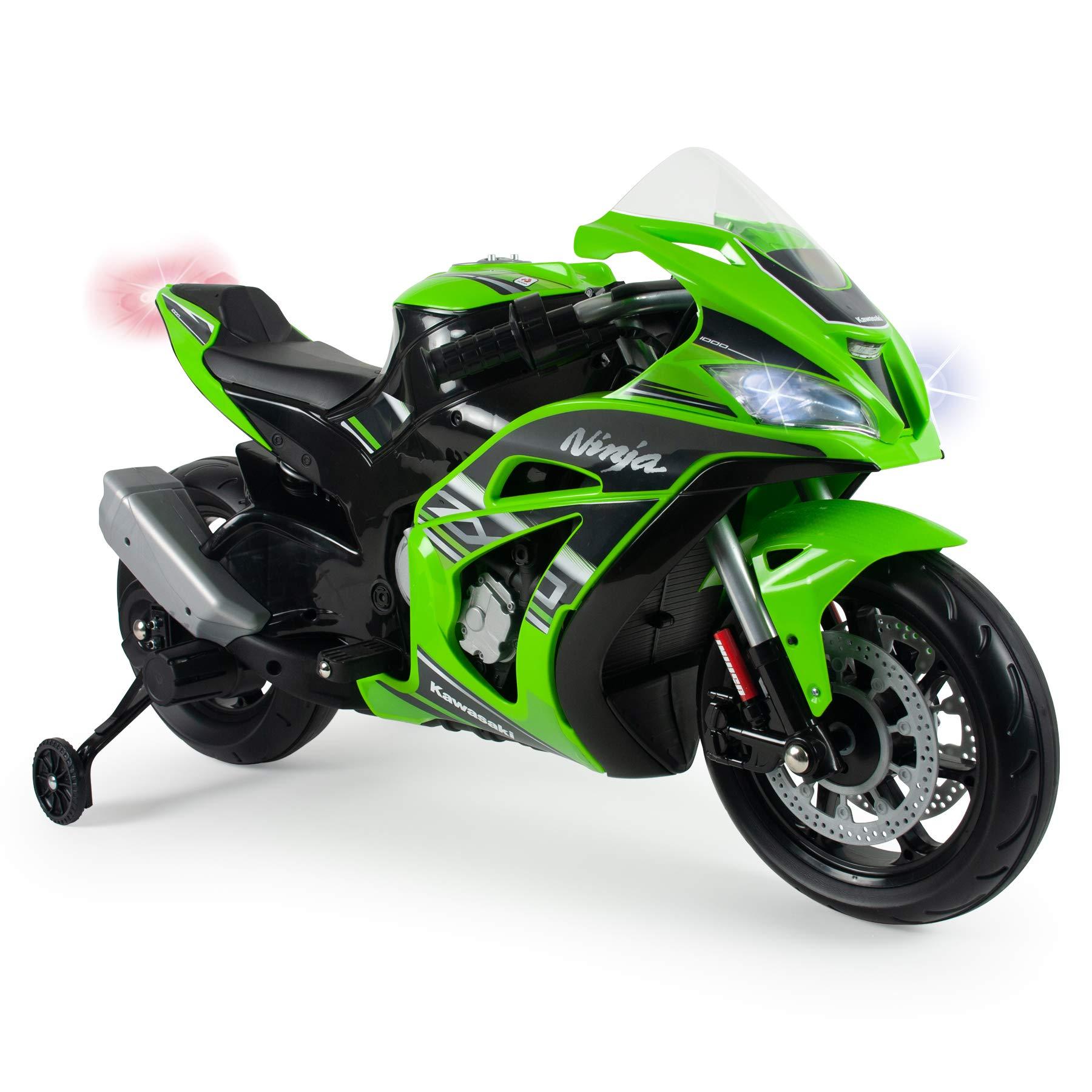 INJUSA – Moto Ninja Kawasaki ZX10 a 12V con Acelerador en Puño ...