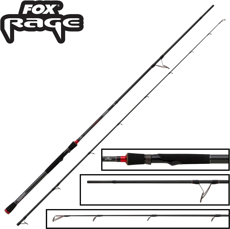 Fox Rage Prism Power Spin X Rod 270cm 20-80g - Spinnrute zum Hechtangeln mit Kunstkdern, Hechtrute für Softbaits & Wobbler