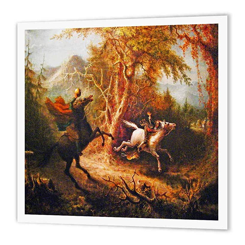 3dRose ht_36406_3 Headless Horseman Pursuing Ichabod Crane Painting-Iron on Heat Transfer Paper for White Material, 10 by 10-Inch