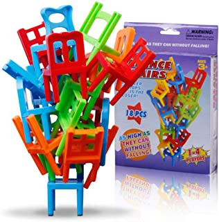 Chairs Stacking Tower Balancing Game , Chair Shape Building Block Mini Plastic Balance Stacking Chair Building Block Child...