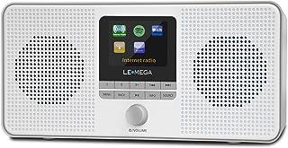 LEMEGA IR4S Stereo WIFI Internetradio, Draagbare DAB/DAB+ en FM digitale radio, Spotify Connect, Bluetooth-luidspreker, du...