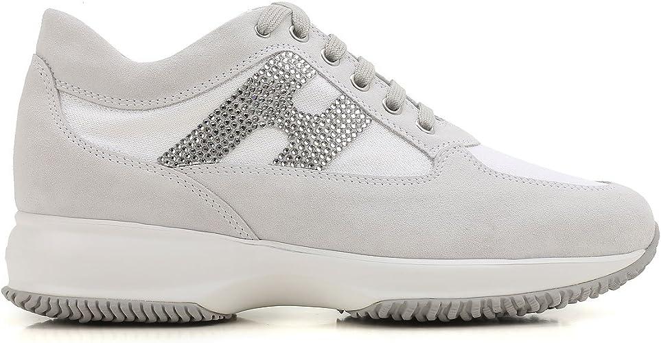 HOGAN scarpe donna interactive HXW00N02011FIKB001 H strass bianco ...
