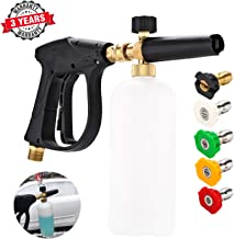 CPROSP 3000 PSI Max High Pressure Washer Gun, M22 Thread, Snow Foam Lance,Car Snow Foam Cannon,with 5pcs Multiple Spray Angles Quick Connect Nozzles
