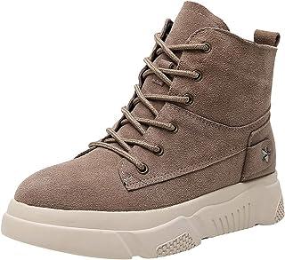 rismart Donna Scamosciato Sneaker Piattaforma Elegante Casuale Caviglia Stivali