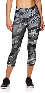 Reebok Women's Capri Leggings High-Rise Waist Performance Compression Tights