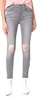 7 for All Mankind Women's B(air) Skinny Jeans with Knee Holes