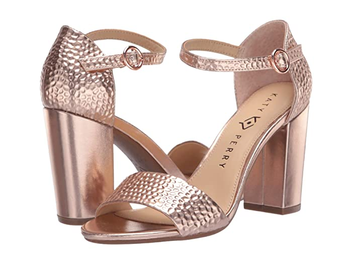 70s Shoes, Platforms, Boots, Heels Katy Perry The Liz Rose Gold Hammered Emboss Womens Shoes $55.99 AT vintagedancer.com