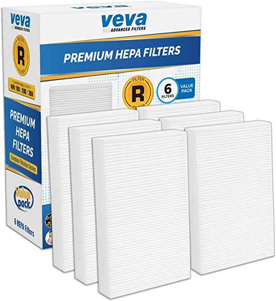 VEVA Complete 6 Premium HEPA R Replacement Filter Pack HRF R3 HRF R2 HRF R1 Compatible With HW Air Purifier Series HPA090 HPA100 HPA200 HPA250 HPA300