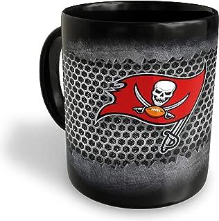 Tampa Bay Buccaneers Destroyer Logo Football Black Coffee Mug (11oz)