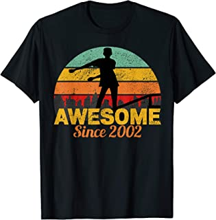 Awesome Since 2002 Flossing 17 Year Old Teenager B-Day Shirt T-Shirt