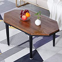 Side Table End Tables Wrought Iron Marble Top Polygon Tea Table Coffee Table, Waiting Area Couch Table Living Room Furnitu...