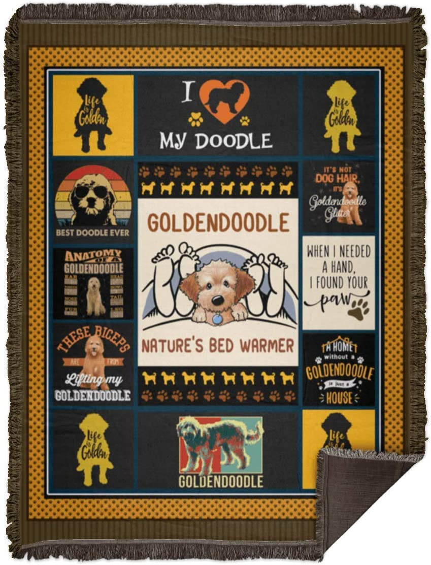 Spasm price Blankets Max 67% OFF Goldendoodle Nature's Bed Warmer Family Gift Premium Aw
