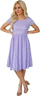 pastel purple lace dress