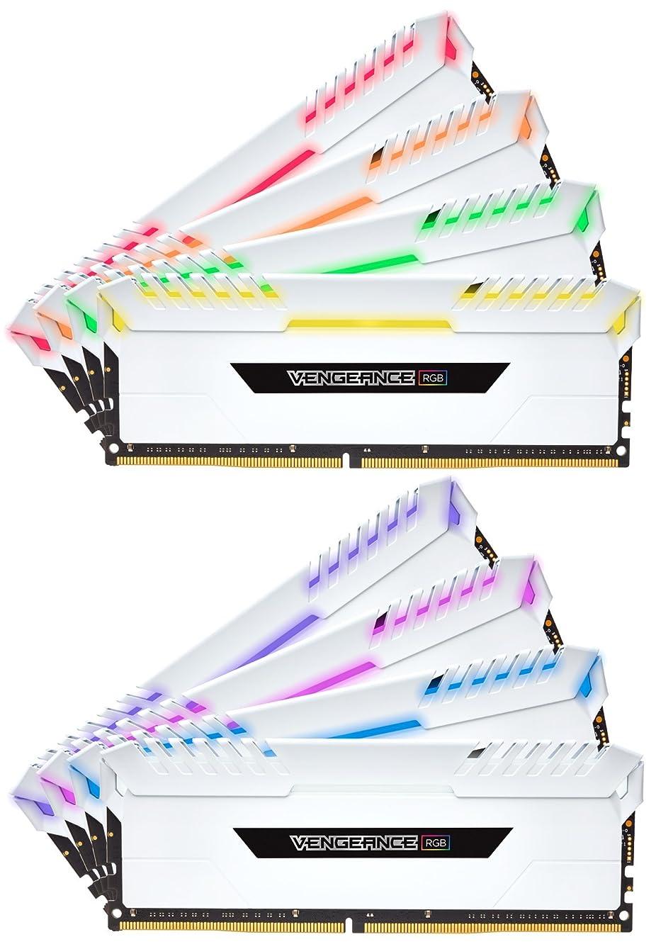 意義ソーダ水深くCORSAIR DDR4-3000MHz デスクトップPC用 メモリモジュール VENGEANCE RGB シリーズ 128GB [16GB×8枚] CMR128GX4M8C3000C16W