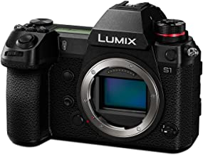 Panasonic LUMIX S1 Full Frame Mirrorless Camera with 24.2MP MOS High Resolution Sensor, L-Mount Lens Compatible, 4K HDR Vi...