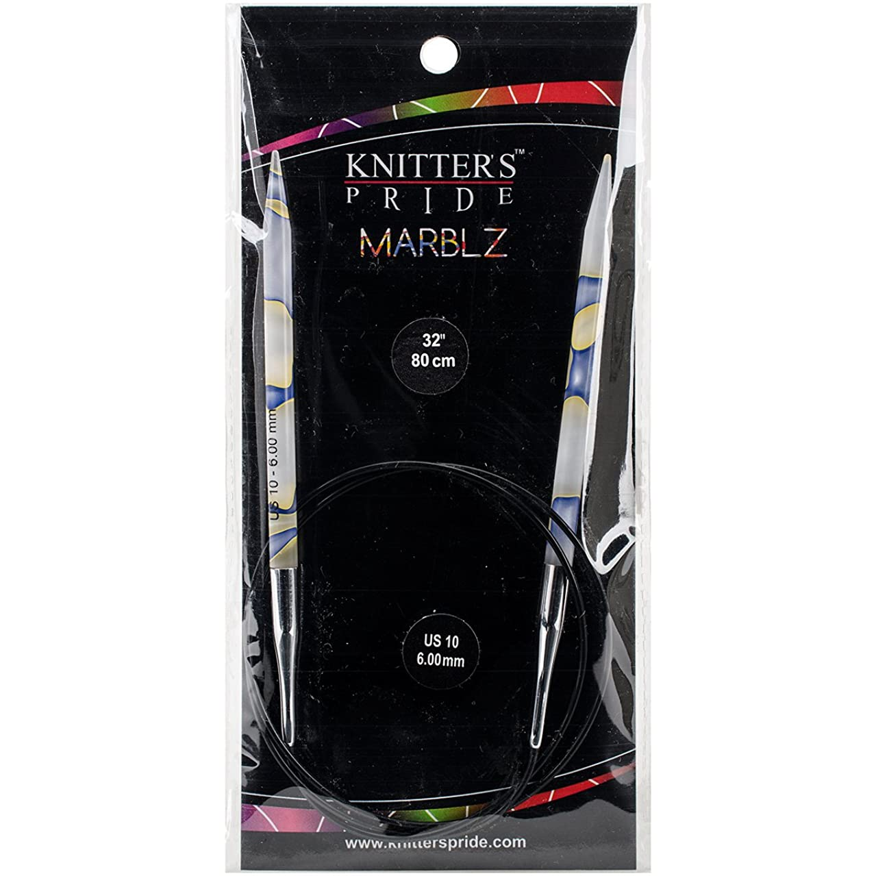 Knitter's Pride 10/6mm Marblz Fixed Circular Needles, 32