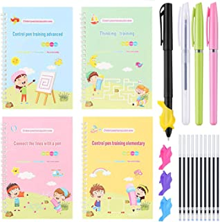 Magic Practice Copybook, Line Patterns Pen Control for Kids, Improving Imagination and Logical Thinking Ability, Reusable ...