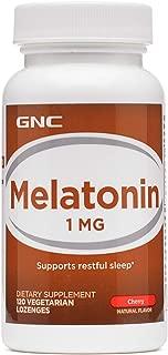 GNC Melatonin 1mg, Cherry, 120 Lozenges, Supports Restful Sleep