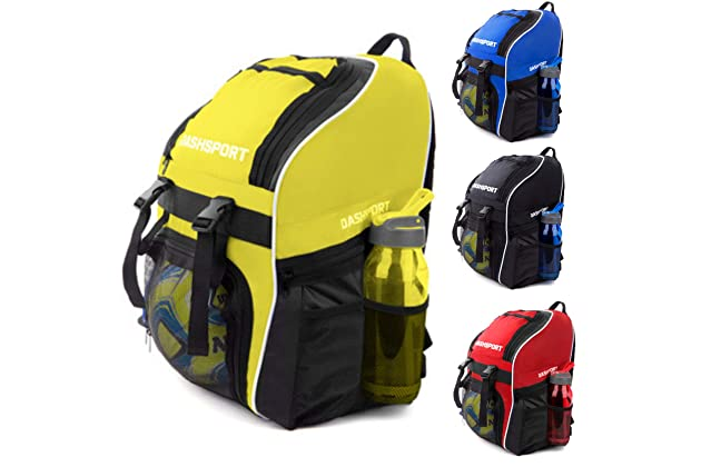 2c6478ba01ef Soccer Backpack - Basketball Backpack - Youth Kids Ages 6 and Up - with Ball  Compartment - All Sports Bag Gym Tote Soccer Futbol Basketball Football ...