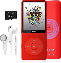 $25 » MP3 Player, Music Player with 16GB Micro SD Card, Build-in Speaker/Photo/Video Play/FM Radio/Voice Recorder/E-Book Reader,...
