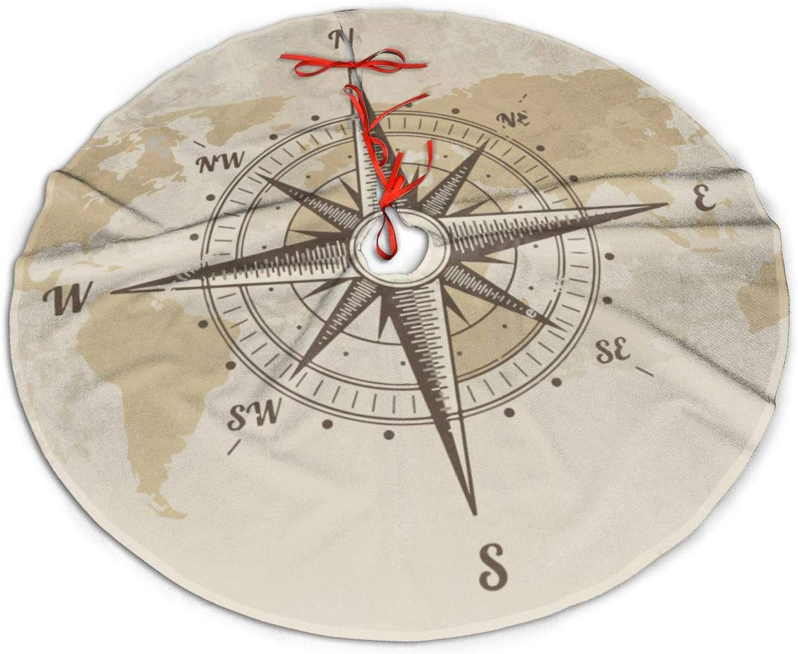 MJINSJIA-TS Dedication Large discharge sale Vintage Nautical Compass Old Christmas Tre Map World