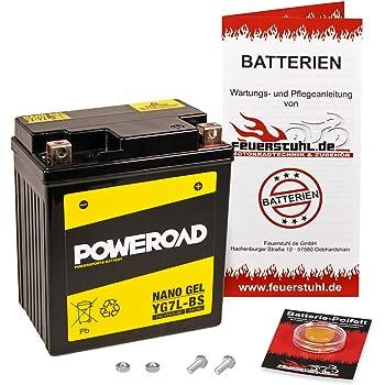 SC58 Pfand /€7,50 Gel-Batterie f/ür Honda CBF 1000 inkl wartungsfrei 2006-2010