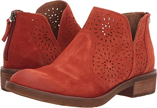 Sunset Orange Oiled Cow Suede