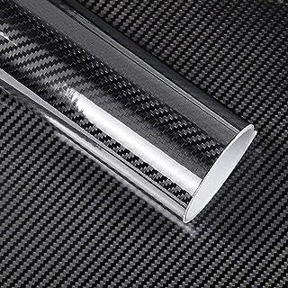 IlMondoMall 3D ハイグロス カーボン調 カーボンステッカー 艶あり (152×300cm, 黒)