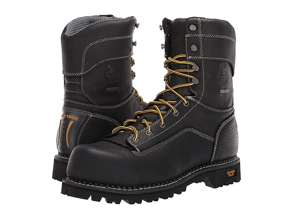 Georgia Boot Low Heel Logger 9 Comp Toe Waterproof (Black) Men