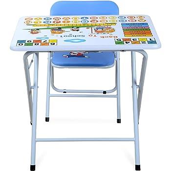 Nilkamal Joy Kids Study Table Set, White and Blue
